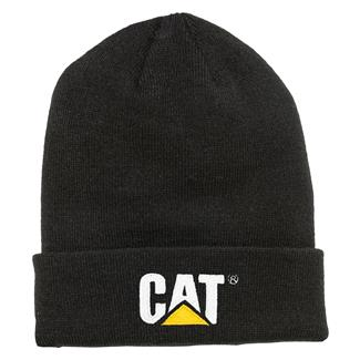 CAT Trademark Cuff Beanie Black