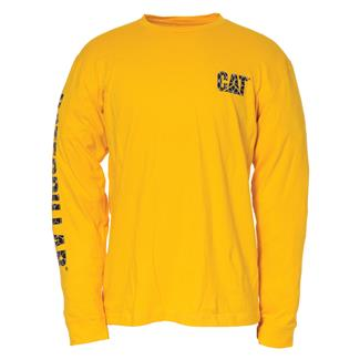CAT Custom Banner Long Sleeve T-Shirt Yellow