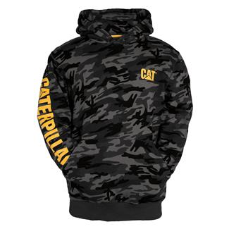 CAT Trademark Banner Hoodie Night Camo