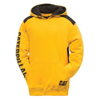 CAT Logo Panel Hoodie Yellow