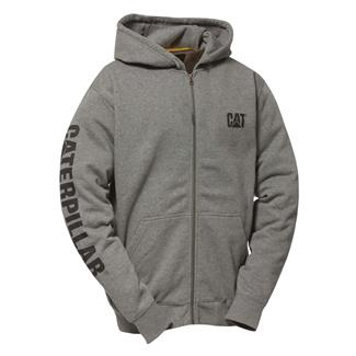 CAT Full Zip Hoodie Dark Heather Gray