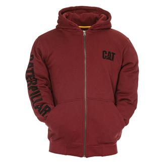 CAT Full Zip Hoodie Brick