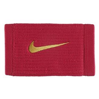 NIKE Dri-FIT Reveal Doublewide Wristbands Red Crush / Dark Citron
