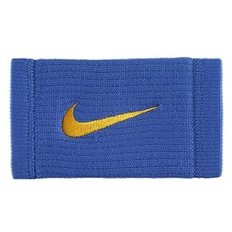 NIKE Dri-FIT Reveal Doublewide Wristbands Rush Blue / Amarillo
