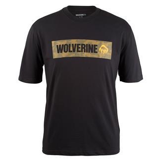 Wolverine Block Print Logo Graphic T-Shirt Black