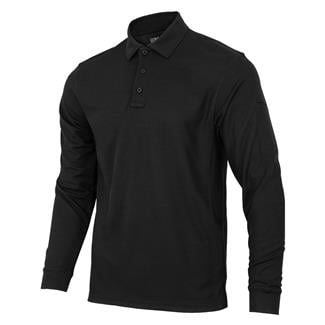 Condor Performance Long Sleeve Polo Black