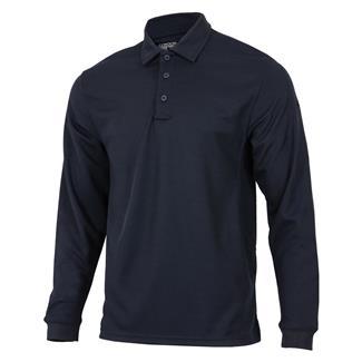 Condor Performance Long Sleeve Polo Navy Blue
