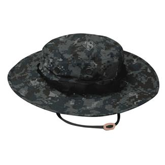 TRU-SPEC Poly / Cotton Ripstop Wide Brim Boonie Hat Midnight Navy Digital