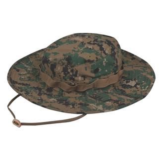 TRU-SPEC Poly / Cotton Ripstop Wide Brim Boonie Hat Woodland Digital