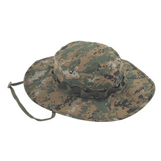 TRU-SPEC 3-Layer Nylon Adjustable Boonie Hat WP Woodland Digital