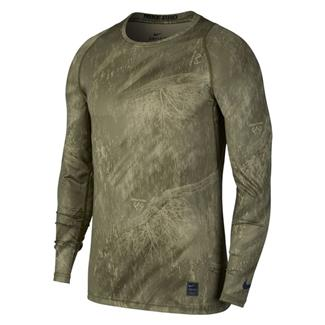 NIKE Pro Long Sleeve Dri-Fit Shirt Olive Canvas / Neutral Olive / Black