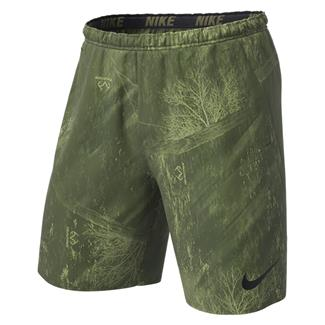 NIKE Dry Printed Training Shorts Olive Canvas / Black