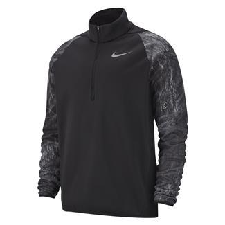 NIKE Therma 1/4 Zip Training Fleece Black / Dark Gray