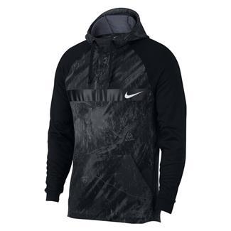 NIKE Therma Fleece Training Pullover Hoodie Black / White