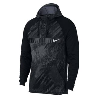 NIKE Therma Fleece Training Pullover Hoodie Black / White