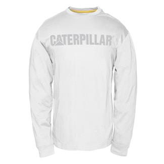 CAT UPF Defender Long Sleeve T-Shirt White