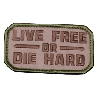 Mil-Spec Monkey Live Free Or Die Hard Patch MultiCam