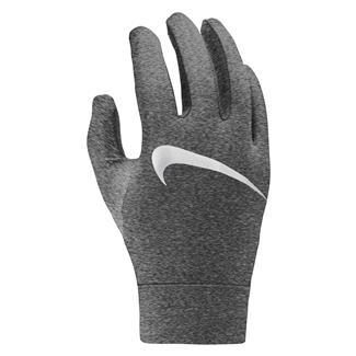 NIKE Heathered Dry Element Running Gloves Dark Gray Heather / Silver