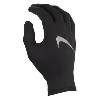 NIKE Miler Running Gloves Black / Silver