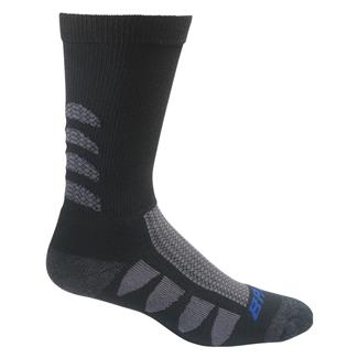 Bates EPS Moisture Wicking Mid Calf Socks - 2 Pair Black