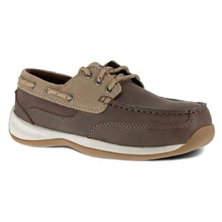 Rockport Works Sailing Club 3 Eye Tie Boat Shoe ST Brown