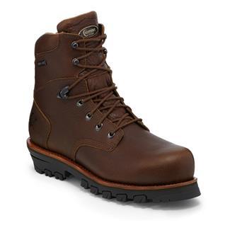 """Chippewa Boots 7"""" Oak Tarpon Lace-Up 400G WP CT EH Brown"""