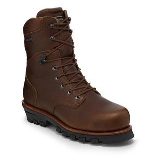 """Chippewa Boots 9"""" Oak Tarpon Lace-Up 400G WP CT EH Brown"""