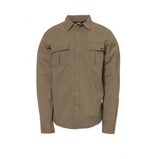 CAT No Fly Zone Long Sleeve Shirt Khaki