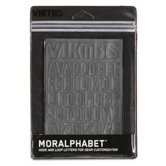 Viktos Moralphabet Hook and Loop Letters Grayman