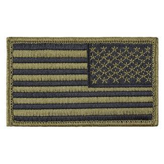 TG American Flag Reversed Patch Scorpion OCP Black