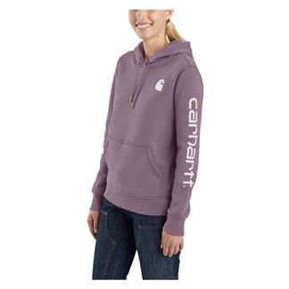 Carhartt Clarksburg Sleeve Logo Hoodie Lavender Shadow
