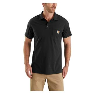 Carhartt Force Cotton Delmont Pocket Polo Black
