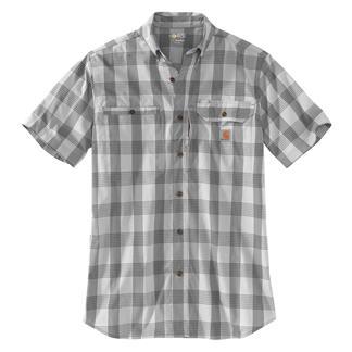 Carhartt Force Ridgefield Plaid Shirt Asphalt