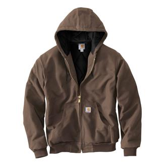 Carhartt Quilted Flannel Lined Duck Active Jacket Coffee