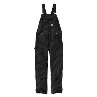 Carhartt R01 Duck Bib Overalls Black