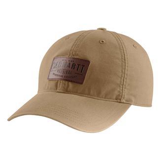 Carhartt Rigby Stretch Fit Leatherette Patch Hat Dark Khaki