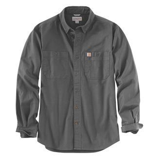 Carhartt Rugged Flex Rigby Long Sleeve Work Shirt Gravel