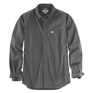 Carhartt Rugged Flex Rigby Long Sleeve Work Shirt Gravel