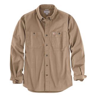 Carhartt Rugged Flex Rigby Long Sleeve Work Shirt Dark Khaki