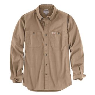 Carhartt Rugged Flex Rigby Long Sleeve Work Shirt Dark Khaki