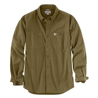 Carhartt Rugged Flex Rigby Long Sleeve Work Shirt Military Olive