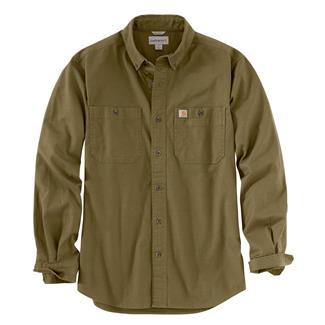 Carhartt Rugged Flex Rigby Long Sleeve Work Shirt Military Olive