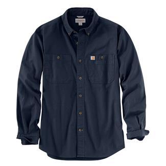 Carhartt Rugged Flex Rigby Long Sleeve Work Shirt Navy