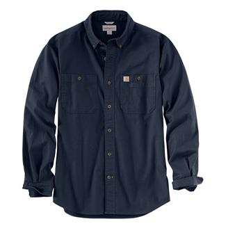 Carhartt Rugged Flex Rigby Long Sleeve Work Shirt Navy