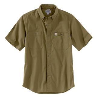 Carhartt Rugged Flex Rigby Work Shirt Military Olive