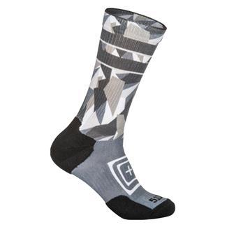5.11 Sock And Awe Dazzle Crew Socks Cool Gray