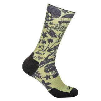 5.11 Sock And Awe Tropic Thunder Crew Socks Army Green