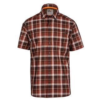 5.11 Hunter Plaid Shirt Mahogany Plaid