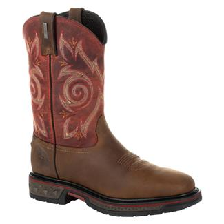 "Georgia 11"" Carbo-Tec LT Pull-On Square Toe WP Red / Brown"