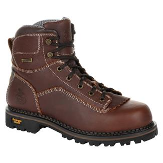 "Georgia 6"" Low-Heel Logger WP Brown"